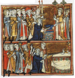 "Illumination from ""Histoire de Merlin"", Robert de Boron. France, c. 1280-1290"