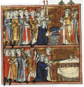 "Illumination from ""Histoire de Merlin"", Robert de Boron. France, c. 1280-1290"